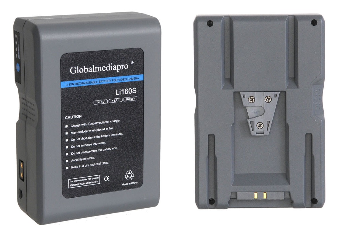Globalmediapro Li160s Lithium Ion V Mount V Lock Battery