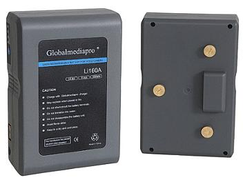 Globalmediapro Li160A Gold Mount Li-ion Battery 160Wh