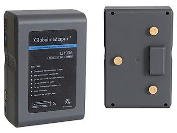 Globalmediapro Li190A Gold Mount Li-ion Battery 190Wh
