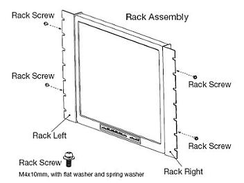 Globalmediapro T-RK-15 Rack Mounting Brackets