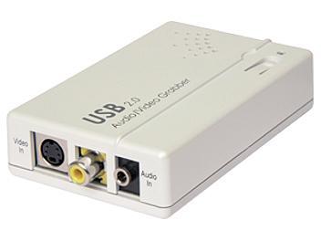 Globalmediapro P-102 Video to USB 2 Adaptor with Audio-in AV USB 2 Grabber