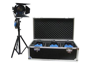 Dynacore DTW-650W-KH Studio Fresnel Spot Light Kit (Hard Case)