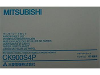 Mitsubishi CK900S4P Paper with Ink Ribbon