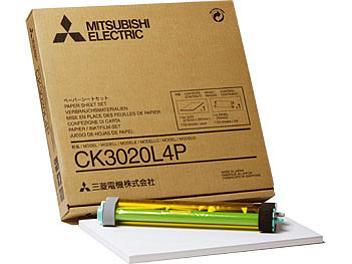 Mitsubishi CK3020L4P Glossy Paper with Ink Ribbon