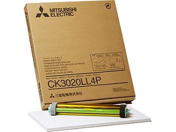 Mitsubishi CK3020LL4P Glossy Paper with Ink Ribbon