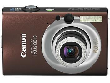 Canon IXUS 80 IS Digital Camera - Brown