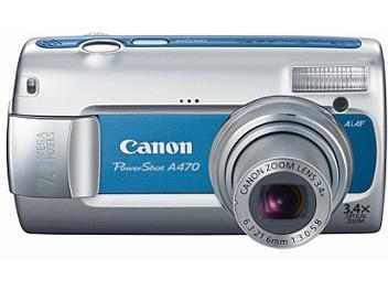 Canon PowerShot A470 Digital Camera - Blue