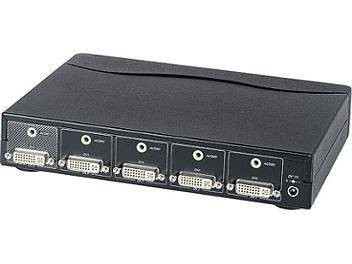 Globalmediapro Y-307A 4-in 1-out DVI Switcher with Audio