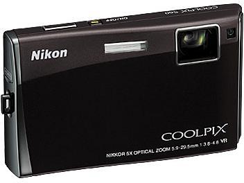Nikon Coolpix S60 Digital Camera - Black