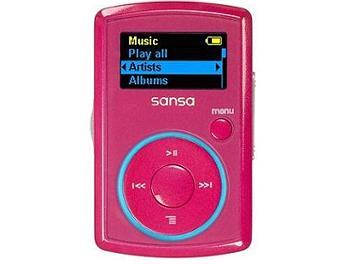 SanDisk Sansa Clip 2GB MP3 Player - Pink