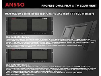 Ansso DLM-MC2080B 2 x 8-inch LCD Monitor