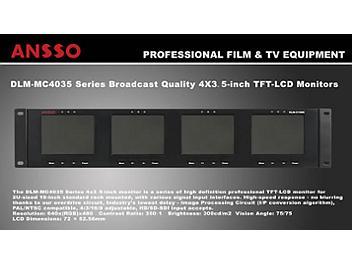 Ansso DLM-MC4035B 4 x 3.5-inch LCD Monitor