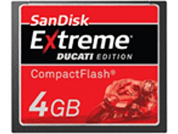 SanDisk 4GB Extreme Ducati Edition CompactFlash Card (pack 10 pcs)