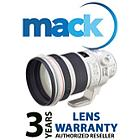 Mack 1013 3 Year Professional Lens International Warranty (under USD5000)