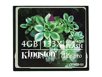 Kingston 4GB CompactFlash Elite Pro Memory Card (pack 25 pcs)