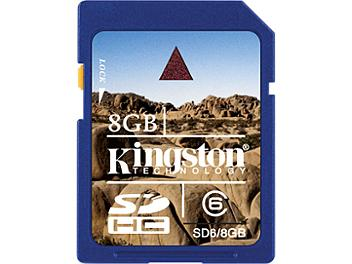 Kingston 8GB Class-6 SDHC Memory Card (pack 10 pcs)