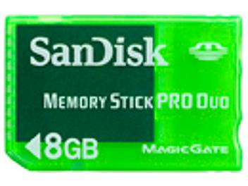 SanDisk 8GB Memory Stick Pro Duo Gaming Edition Card (pack 25 pcs)