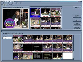 Datavideo CG-350 HD/SD Character Generator Software