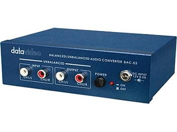 Datavideo BAC-03 Bi-Directional Balanced / Unbalanced Audio Converter
