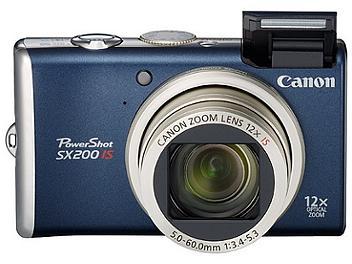 Canon PowerShot SX200 IS Digital Camera - Blue