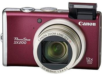 Canon PowerShot SX200 IS Digital Camera - Red
