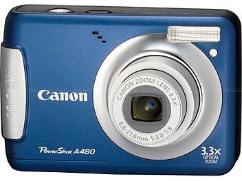 Canon PowerShot A480 Digital Camera - Blue