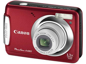 Canon PowerShot A480 Digital Camera - Red