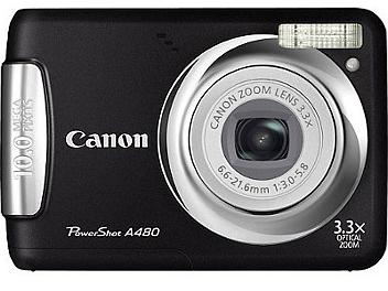 Canon PowerShot A480 Digital Camera - Black