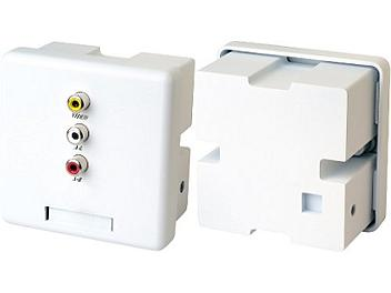 Globalmediapro SHE CW02A Wall Plate Video and Stereo Audio CAT5 Extender (Transmitter and Receiver)