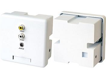 Globalmediapro SHE CW02AP Wall Plate Video and Stereo Audio CAT5 Extender (Transmitter and Receiver)
