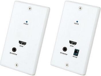 Globalmediapro SHE HW01 Wall Plate HDMI and IR Repeater CAT5 Extender (Transmitter and Receiver)