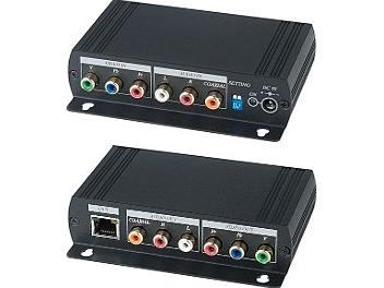 Globalmediapro SHE YE02DAL Component Video and Stereo/Digital Audio CAT5 Extender (Transmitter and Receiver)