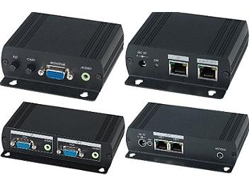 Globalmediapro SHE VE02AL VGA and Stereo Audio CAT5 Extender Distribution Amplifier (Transmitter and Receiver)