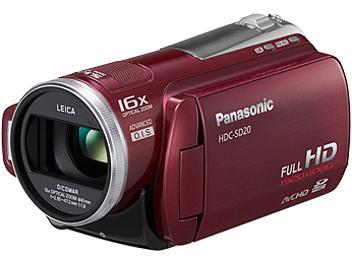Panasonic HDC-SD20 HD Camcorder PAL - Red