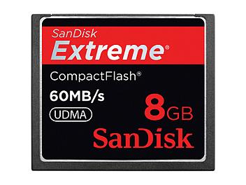 SanDisk 8GB Extreme CompactFlash Card 60MB/s