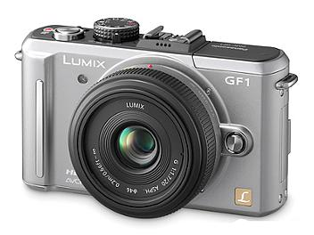 Panasonic Lumix DMC-GF1 Camera PAL Kit with 20mm Lens - Silver