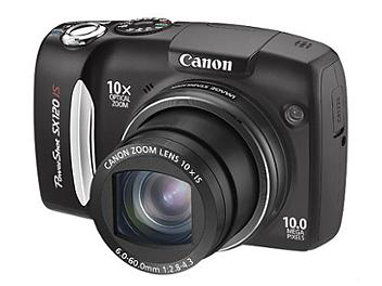 Canon PowerShot SX120 IS Digital Camera - Black
