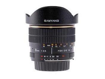 Samyang 8mm F3.5 Fisheye Lens - Nikon Mount