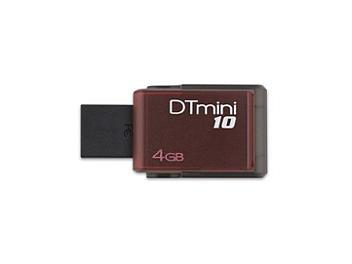 Kingston 4GB DataTraveler M10 USB Flash Memory - Red