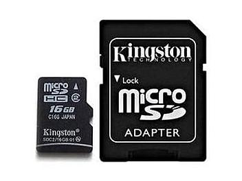 Kingston 16GB Class-2 SDHC MicroSD with SD Adapter Card (SDC2/16GB) - pack 2 pcs