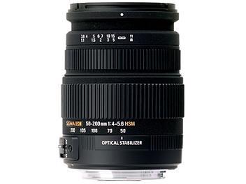 Sigma 50-200mm F4-5.6 DC OS HSM Lens - Nikon Mount