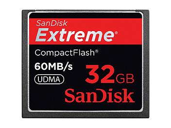 SanDisk 32GB Extreme CompactFlash Memory Card 60MB/s (pack 3 pcs)