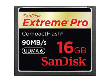 SanDisk 16GB ExtremePro CompactFlash Card 90MB/s (pack 3 pcs)