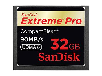 SanDisk 32GB ExtremePro CompactFlash Memory Card 90MB/s (pack 2 pcs)