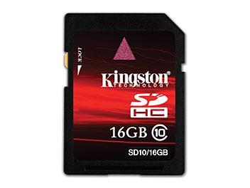 Kingston 16GB Class-10 SDHC Memory Card (pack 10 pcs)