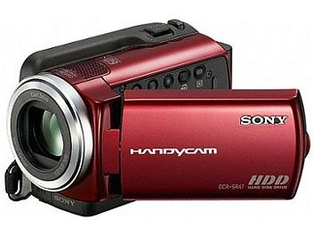 Sony DCR-SR47E SD HDD Camcorder PAL - Red