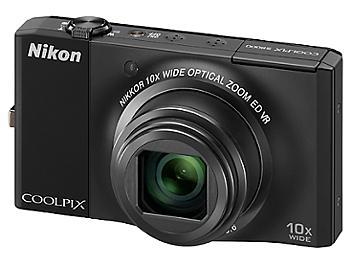 Nikon Coolpix S8000 Digital Camera - Black