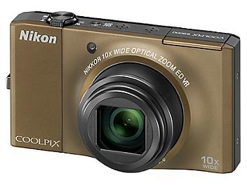 Nikon Coolpix S8000 Digital Camera - Brown