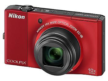 Nikon Coolpix S8000 Digital Camera - Red