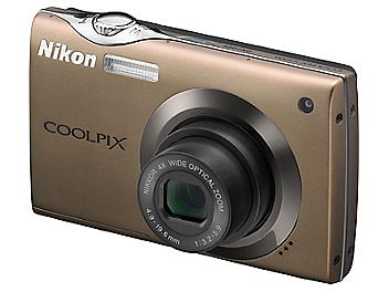 Nikon Coolpix S4000 Digital Camera - Brown